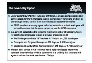 Using the CalPERS law as an example for creating similar legislation for teachers. (Click on image to enlarge)