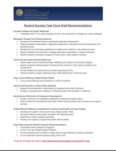 Task Force Draft Recommendations