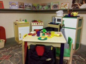 Play kitchen in Model TK Classroom. (photo, K. Baron) Click to enlarge.