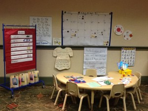 Transitional Kindergarten Model Classroom. (photo, Jeannine Campbell). Click to enlarge.