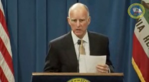 """We have to live within our means,"" said Gov. Brown in announcing nearly $1 billion in mid-year cuts. (source:  Governor's press conference) Click to enlarge."