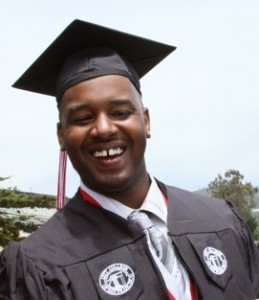 Lerone Matthis at his graduation from City College of San Francisco. (Photo courtesy of Steve Ngo, City College).
